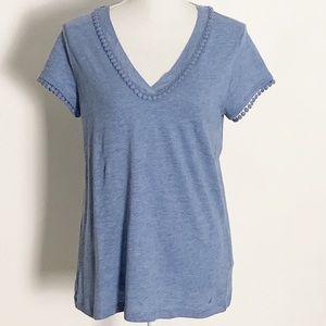 NWT-NAUTICA-Short Sleeve Tee. Light Blue. Med.